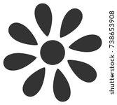 daisy flower vector pictograph. ... | Shutterstock .eps vector #738653908