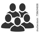 men collective vector icon.... | Shutterstock .eps vector #738654838