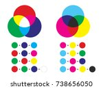 additive and subtractive color... | Shutterstock .eps vector #738656050