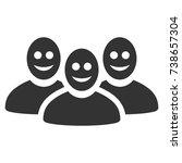 happy people group raster... | Shutterstock . vector #738657304