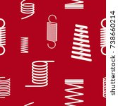 seamless pattern with springs... | Shutterstock .eps vector #738660214