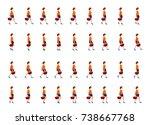 shopping girl walk cycle  walk... | Shutterstock .eps vector #738667768