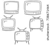 vector set of television | Shutterstock .eps vector #738671464
