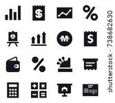 16 vector icon set   graph ...   Shutterstock .eps vector #738682630