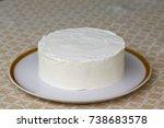 plain white cake | Shutterstock . vector #738683578