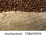 roasted coffee beans  can be... | Shutterstock . vector #738693934