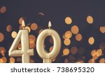gold number 40 celebration... | Shutterstock . vector #738695320