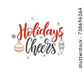 christmas greeting card.... | Shutterstock .eps vector #738696364