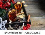 traditional drink mulled wine... | Shutterstock . vector #738702268