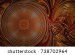 Dark Brown Spiral Circle...