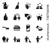 16 vector icon set   cleanser ... | Shutterstock .eps vector #738706048