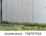 street wall background ... | Shutterstock . vector #738707554