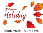 holiday calligraphy vector... | Shutterstock .eps vector #738711526