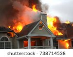 apartment on fire  2 | Shutterstock . vector #738714538