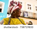 brazilian woman of african... | Shutterstock . vector #738719833