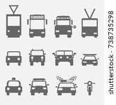 simple transport icons front... | Shutterstock .eps vector #738735298
