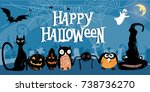 beautiful stylized and textured ...   Shutterstock .eps vector #738736270