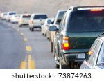 traffic jam, Arizona, USA - stock photo