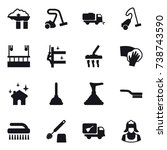 16 vector icon set   factory... | Shutterstock .eps vector #738743590