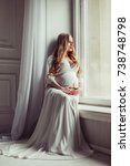 pregnancy  rest  people and... | Shutterstock . vector #738748798