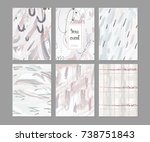 elegant abstract poster or card ... | Shutterstock .eps vector #738751843