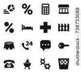 16 vector icon set   diagram ...