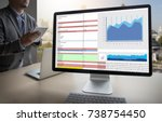 business information technology ... | Shutterstock . vector #738754450