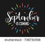 september is coming   firework  ... | Shutterstock .eps vector #738756508