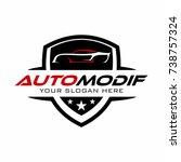 auto car logo | Shutterstock .eps vector #738757324