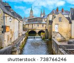 scenic view in bayeux  normandy ... | Shutterstock . vector #738766246