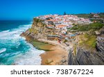 panoramic view of azenhas do...   Shutterstock . vector #738767224