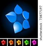 big 3d abstract vector icon | Shutterstock .eps vector #73877197