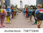 Small photo of Astana figures symbolizing the countries-participants EXPO-2017 The exposition of figures is held within the framework of the festival of contemporary art AstanaArtFest. Astana 2017