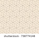 subtle line seamless geometric... | Shutterstock .eps vector #738774148
