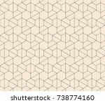 subtle line seamless geometric... | Shutterstock .eps vector #738774160