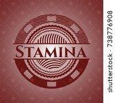 stamina red emblem. retro | Shutterstock .eps vector #738776908