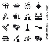 16 vector icon set   factory... | Shutterstock .eps vector #738777004