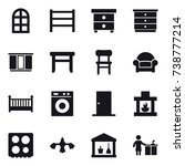16 vector icon set   arch... | Shutterstock .eps vector #738777214