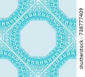 seamless lace pattern with... | Shutterstock .eps vector #738777409
