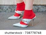 milan   september 21  woman... | Shutterstock . vector #738778768