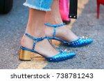 milan   september 21  woman...   Shutterstock . vector #738781243