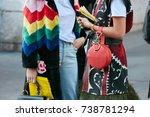 milan   september 21  women... | Shutterstock . vector #738781294