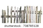 panorama of old wooden fence of ... | Shutterstock . vector #738785128
