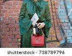 milan   september 21  woman...   Shutterstock . vector #738789796