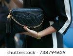 milan   september 21  woman...   Shutterstock . vector #738794629
