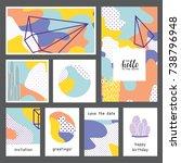 set of creative universal... | Shutterstock .eps vector #738796948