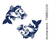 fish logo design | Shutterstock .eps vector #738801124