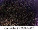 gold  defocused glitter on a... | Shutterstock . vector #738804928