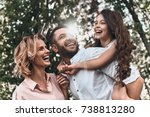family bonds. happy young... | Shutterstock . vector #738813280