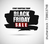 black friday sale banner.   Shutterstock .eps vector #738813748